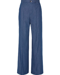 Pantalon large en denim bleu Marc Jacobs