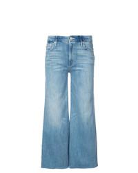 Pantalon large en denim bleu Mother