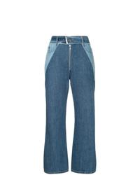 Pantalon large en denim bleu Sea