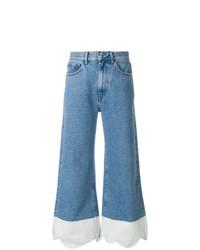 Pantalon large en denim bleu Ssheena