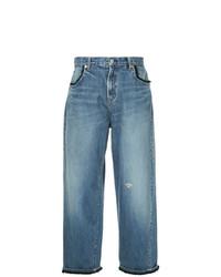 Pantalon large en denim bleu Undercover