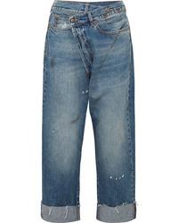 Pantalon large en denim imprimé bleu R13