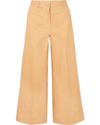 Pantalon large en denim marron clair Elizabeth and James