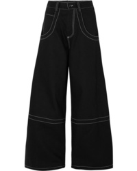 Pantalon large en denim noir Maison Margiela
