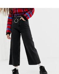 Pantalon large en denim noir Reclaimed Vintage