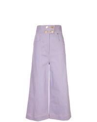 Pantalon large en denim violet clair Alice McCall