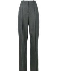 Pantalon large en laine gris foncé Jil Sander Navy