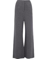 Pantalon large en laine gris foncé Stella McCartney