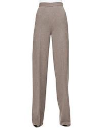 Pantalon large en laine gris