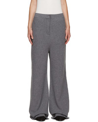 Pantalon large en laine gris Stella McCartney