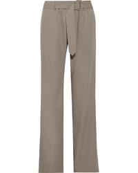 Pantalon large en laine gris Tomas Maier