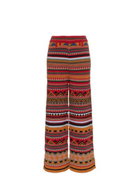 Pantalon large en laine marron Etro