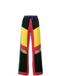 Pantalon large en laine multicolore Etro