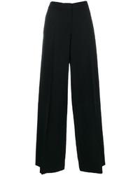 Pantalon large en laine noir Alexander McQueen