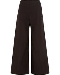 Pantalon large en laine noir Isabel Marant