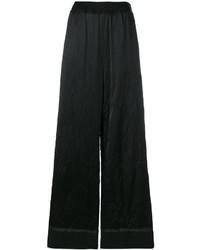 Pantalon large en laine noir Maison Margiela