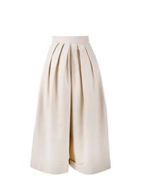 Pantalon large en lin beige DELPOZO