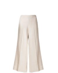 Pantalon large en lin beige Theory