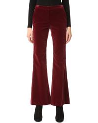 Pantalon large en velours bordeaux Theory