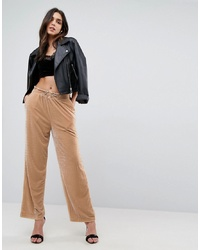 Pantalon large en velours marron clair ASOS DESIGN