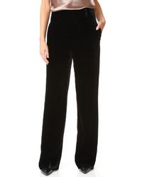 Pantalon large en velours noir Vince