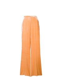 Pantalon large en velours orange Forte Forte