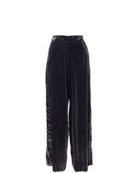 Pantalon large en velours pourpre foncé Aviu
