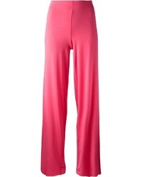 Pantalon large fuchsia