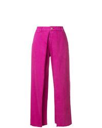 Pantalon large fuchsia Aalto