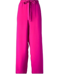 Pantalon large fuchsia Marc Jacobs