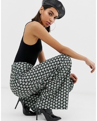 Pantalon large géométrique multicolore Missguided