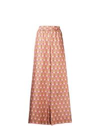 Pantalon large géométrique rose La Doublej
