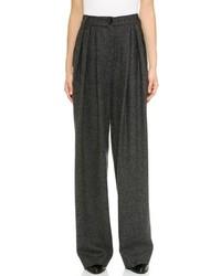 Pantalon large gris foncé