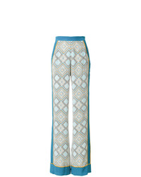Pantalon large imprimé bleu clair TALITHA