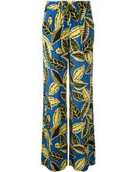 Pantalon large imprimé bleu Moschino