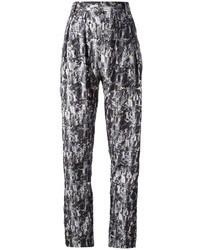 Pantalon large imprimé gris Stine Goya