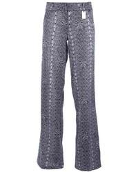 Pantalon large imprimé gris Thomas Wylde
