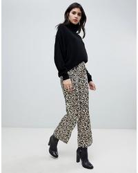 Pantalon large imprimé léopard marron clair Soaked in Luxury