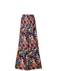 Pantalon large imprimé multicolore La Doublej