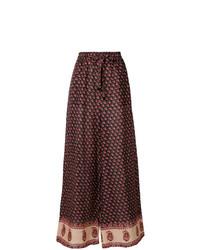 Pantalon large imprimé multicolore Zimmermann