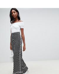 Pantalon large imprimé noir et blanc Asos Tall
