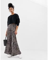 Pantalon large imprimé noir ASOS DESIGN