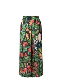 Pantalon large imprimé noir Daniela Gregis