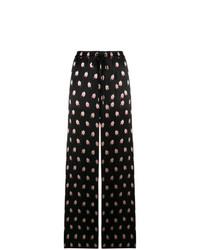 Pantalon large imprimé noir Markus Lupfer