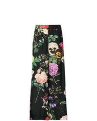 Pantalon large imprimé noir P.A.R.O.S.H.