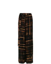 Pantalon large imprimé noir Tufi Duek