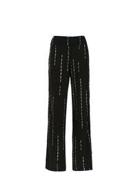 Pantalon large imprimé noir Uma Raquel Davidowicz