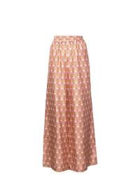 Pantalon large imprimé rose La Doublej