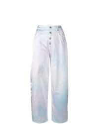 Pantalon large imprimé tie-dye violet clair MM6 MAISON MARGIELA