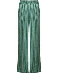 Pantalon large imprimé vert Faith Connexion